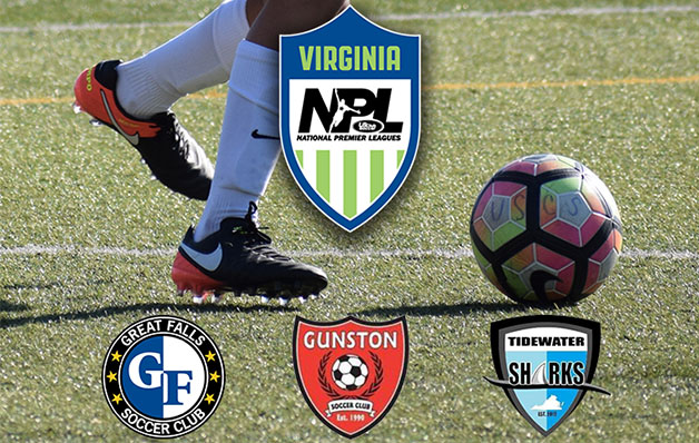 Virginia NPL adds Great Falls SC, Gunston SC and Tidewater Sharks for 2017-18 season